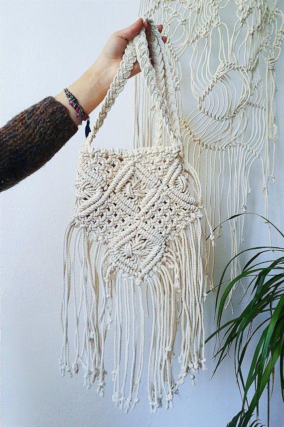 boho chic spirit,Summer Collection bohemian bag SALLY bag tot scru cotton handle jute string crochet bag,