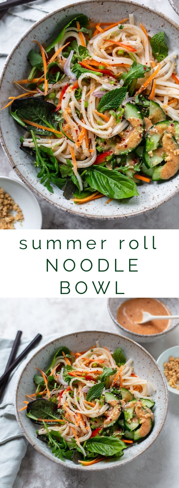 Photo of Fresh Summer Roll Noodle Bowl
