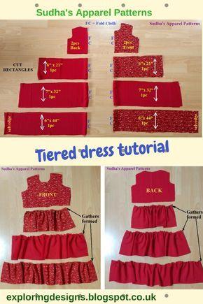 DIY Tiered dress tutorial – FREE Pattern