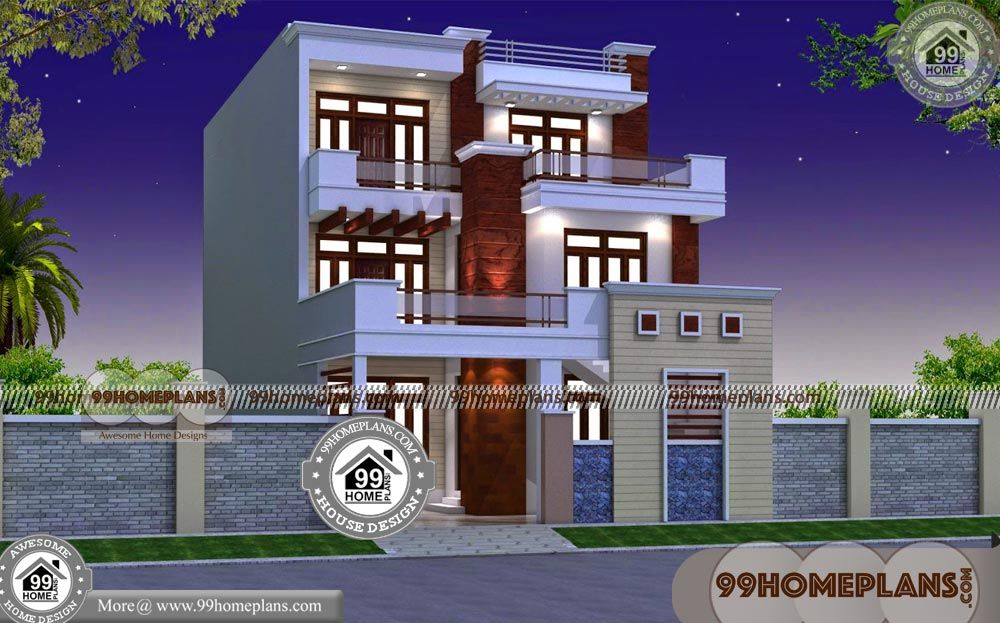 3 Story Home Plans with Simple Residential House Plans Having 3
