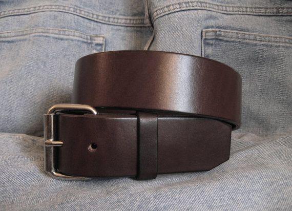 Leather Belt for Men Casual Belt Strap Classic Vintage Style 1.5