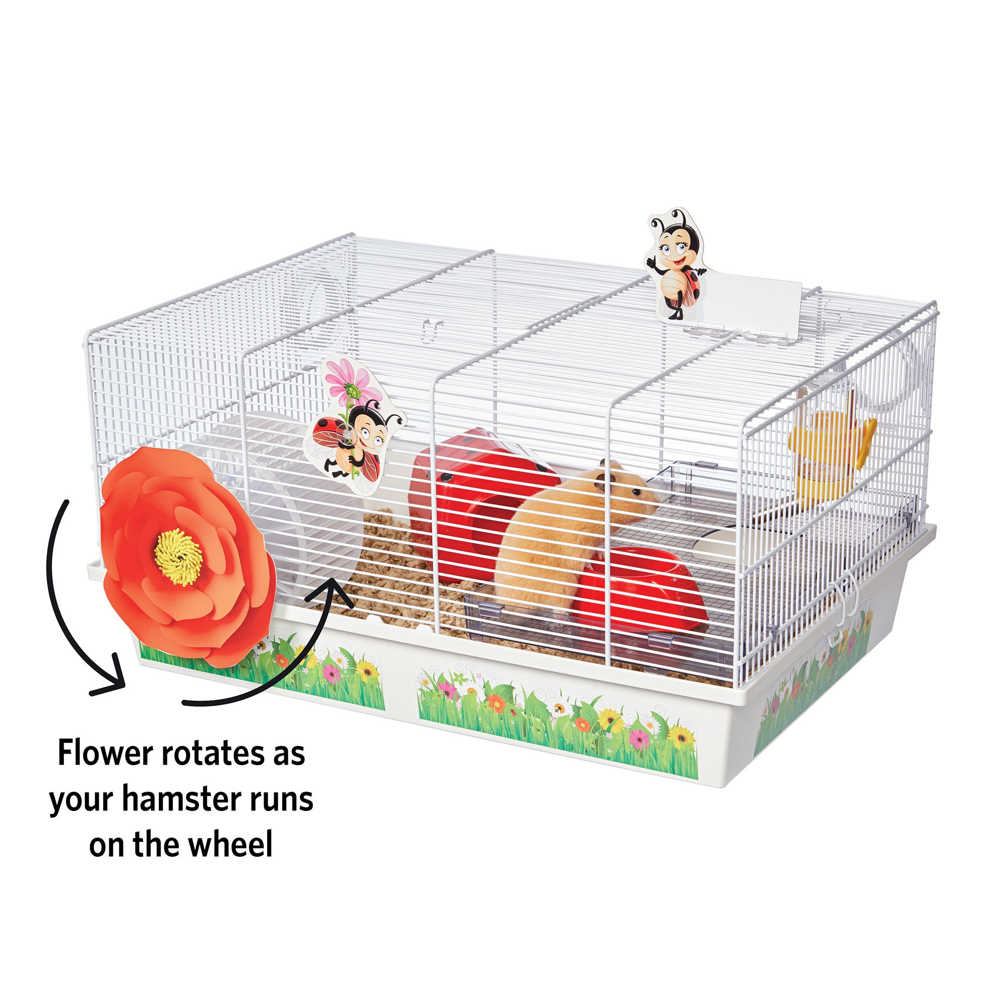 Midwest Critterville Ladybug Hamster Cage 13 85 L X 19 4 W X 9 8 H 13 85 In Hamster House Small Animal Cage Hamster Habitat