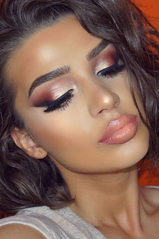 ac4c7435d Charming Rose Gold Makeup Looks From Day To Night See More Http