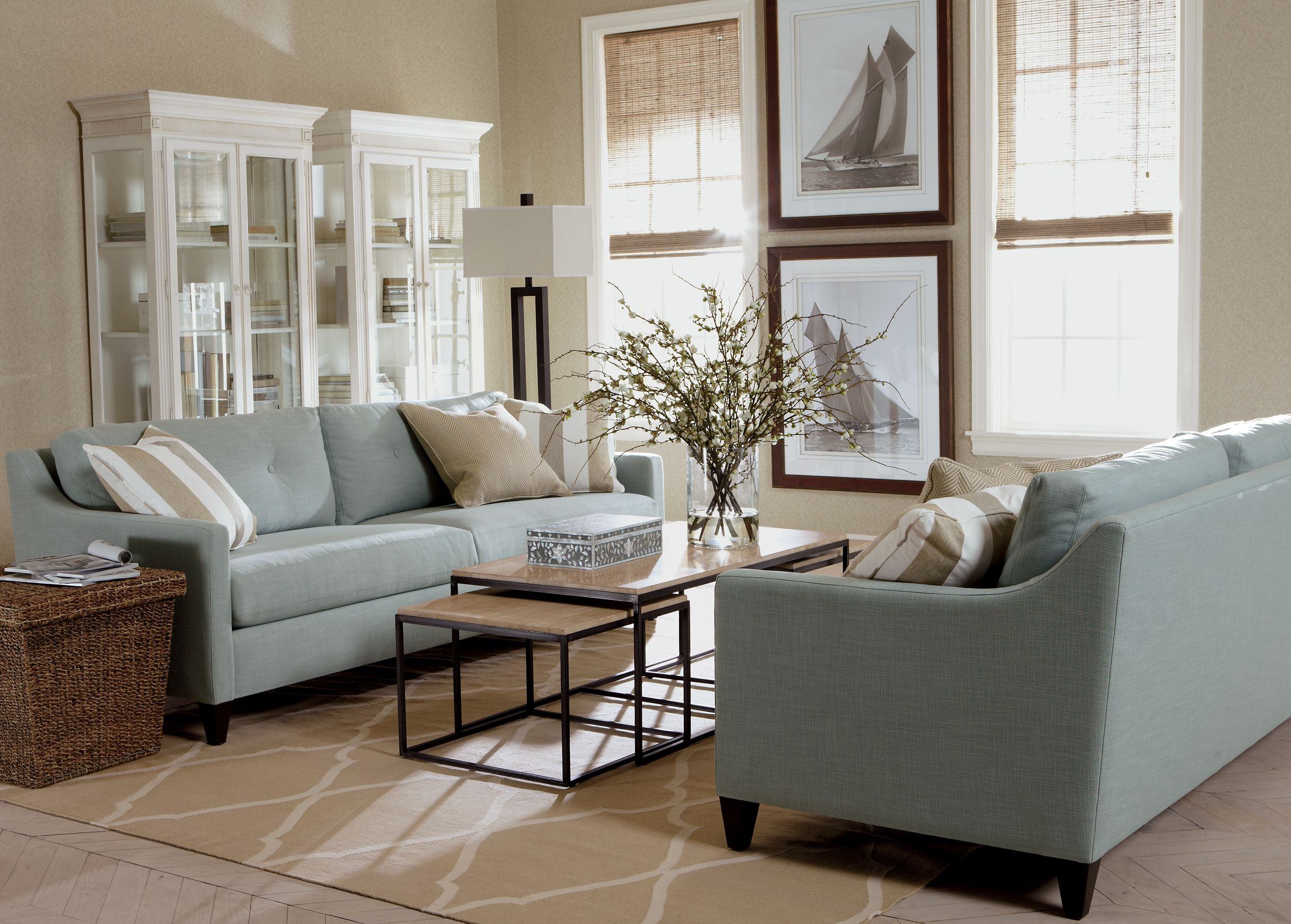 Delicieux Beach Chic Living Room | Ethan Allen, Couches And Tables