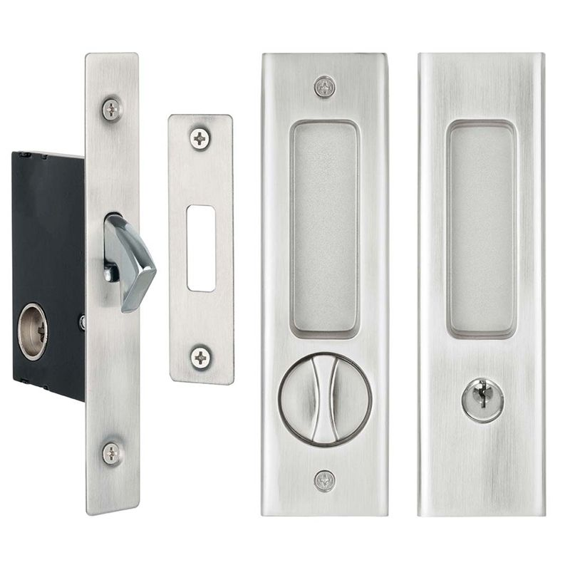 Delf Satin Chrome Sliding Door Lock Set Bunnings Warehouse Sliding Door Handles Cavity Sliding Doors Door Locks