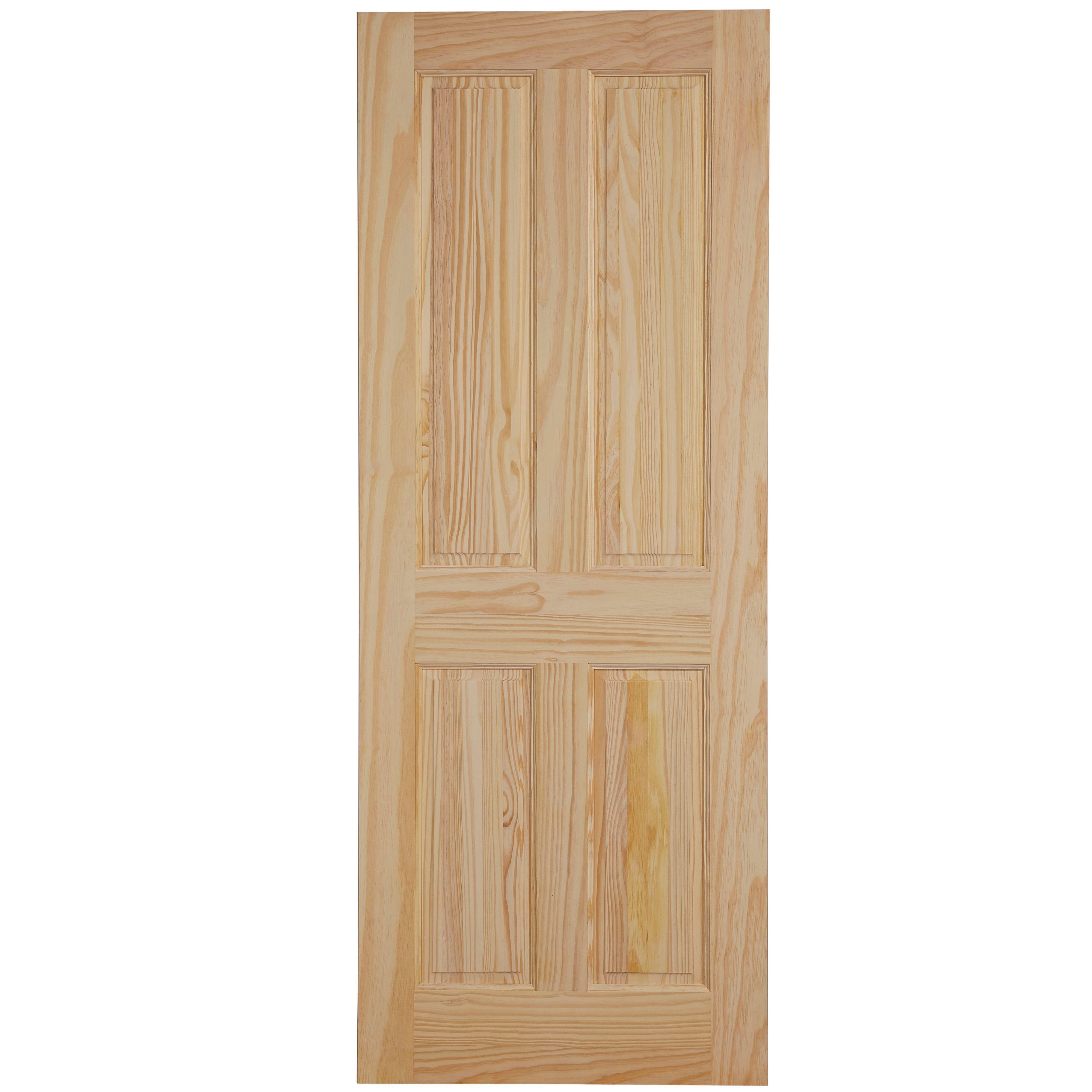 4 Panel Clear Pine Internal Fire Door, (H)1981mm (W)838mm