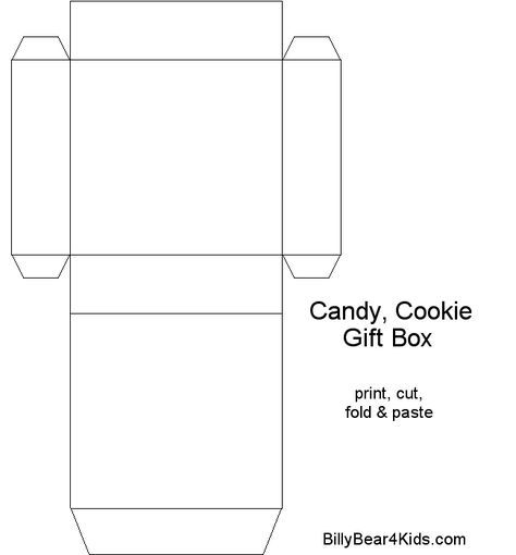 chocolate boxes template BillyBear4Kids Gift - Candy - Cookie