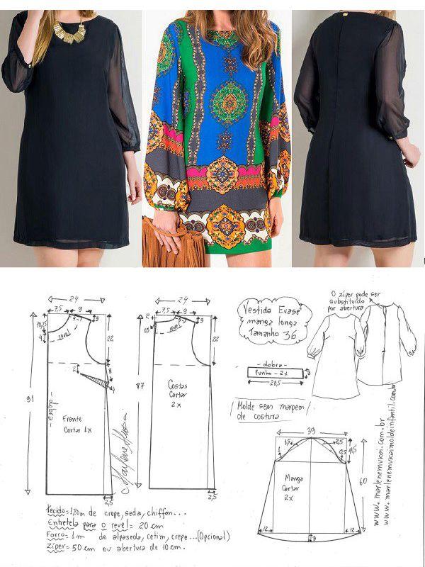 Vestido Camisola | mio | Pinterest | Ropa, Costura y Vestidos