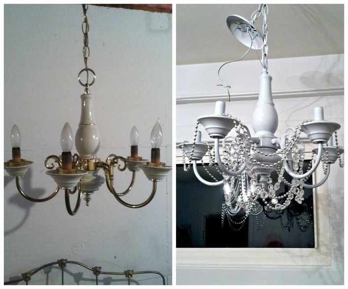 1000 images about DIY crafts – Chandelier Makeover Ideas