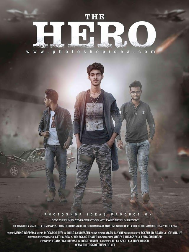 Photoshop Ideas The Hero Action Movie Poster Tutorial Photoshop Manipulation Movie Poster Tutorial Poster Tutorial Action Movie Poster