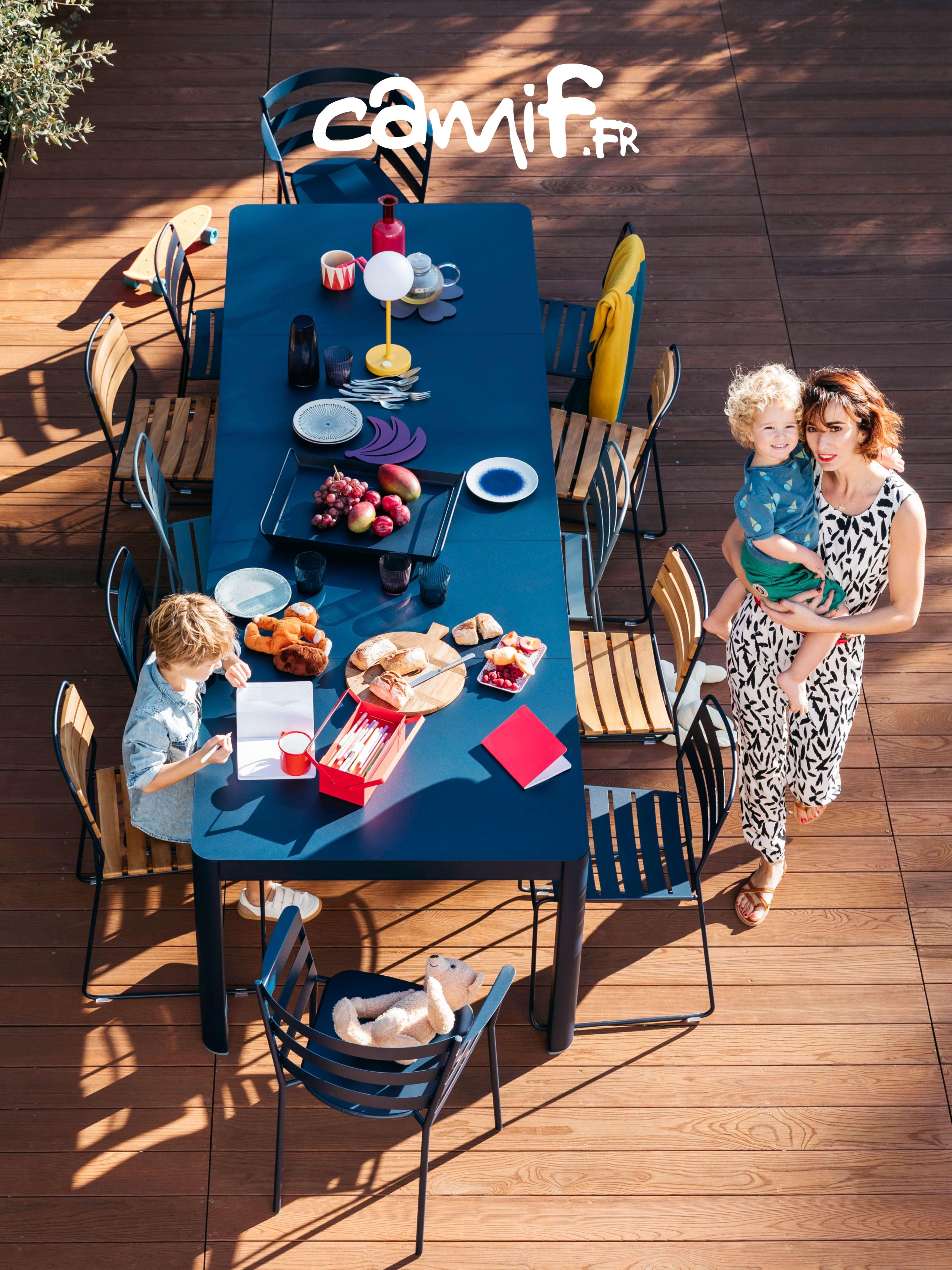 Table de #jardin en #métal avec 2 allonges au style ...