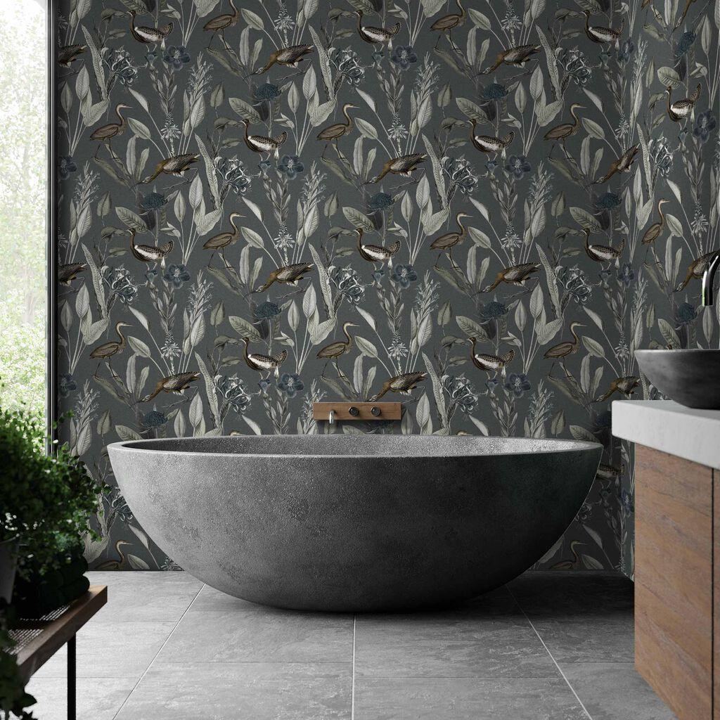 Glasshouse Midnight Wallpaper Black Wallpaper Graham Brown Glass House Grey And Gold Wallpaper Graham Brown