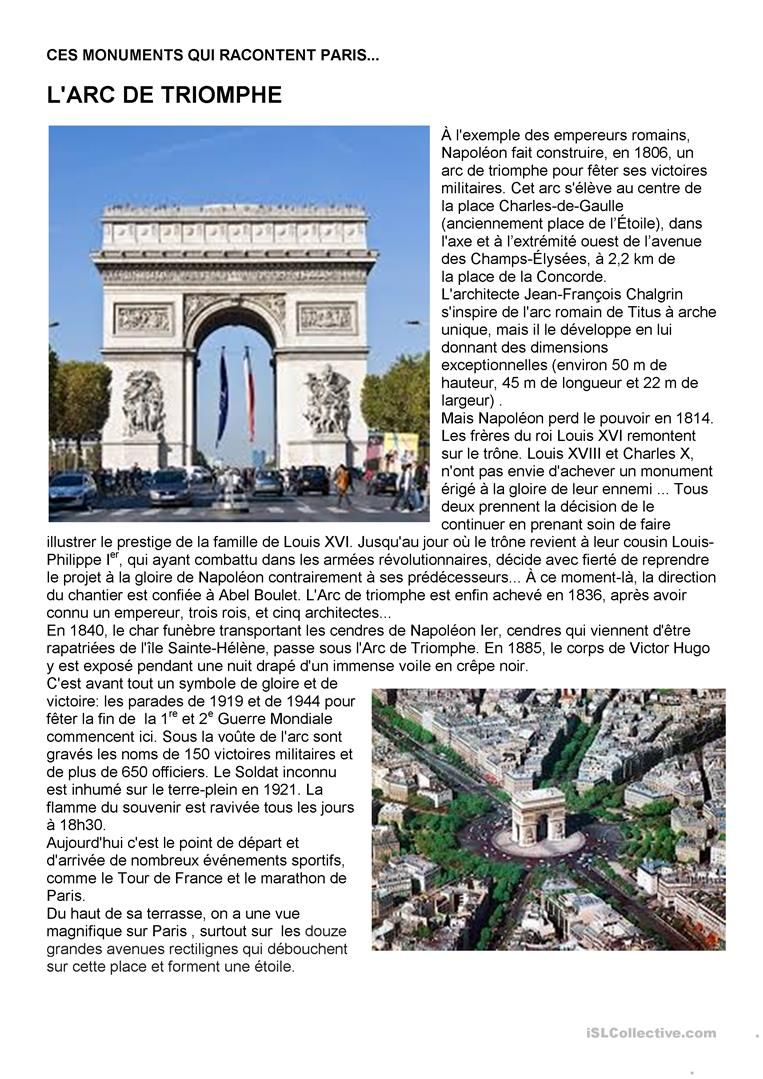 Paryż w pigułce #7 - L'Arc de triomphe - informacje 3 - Francuski przy kawie