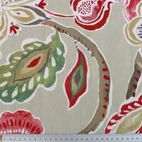 Floral - Englische Dekostoffe - rot   Stoffe / material   Pinterest ...