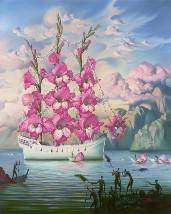 surreal boat by Vladimir Kush