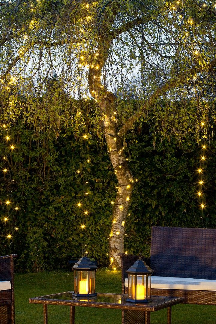 27 Magical ways to use fairy lights in your garden images