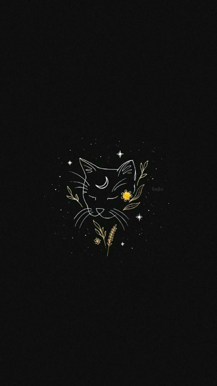 Pin By Mayka Gimenez On Bordados In 2020 Cute Black Wallpaper Black Aesthetic Wallpaper Aesthetic Drawing