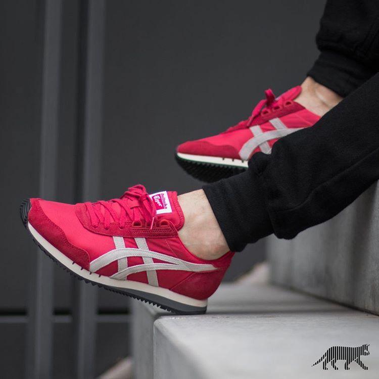 Onitsuka Tiger Dualio: Red | Onitsuka tiger, Sneaker stores