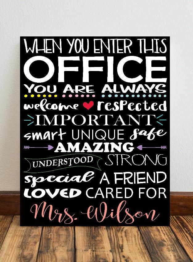 When You Enter This Office Nurse Canvas Sign Decor