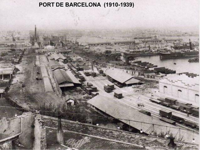 Colom i el port a l'alçada de la plaça del carbó. Principis del XX