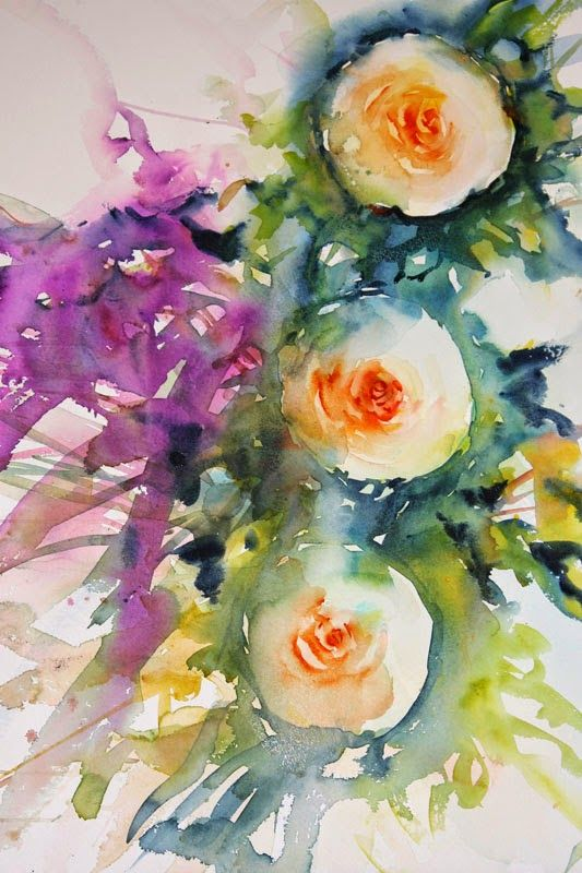 Watercolours With Life - Rose tutorial
