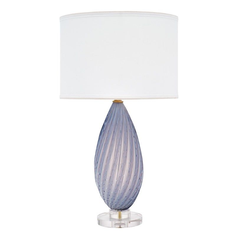 Murano Glass Lavender Table Lamp In 2021 Glass Table Lamp Table Lamp Antique Table Lamps