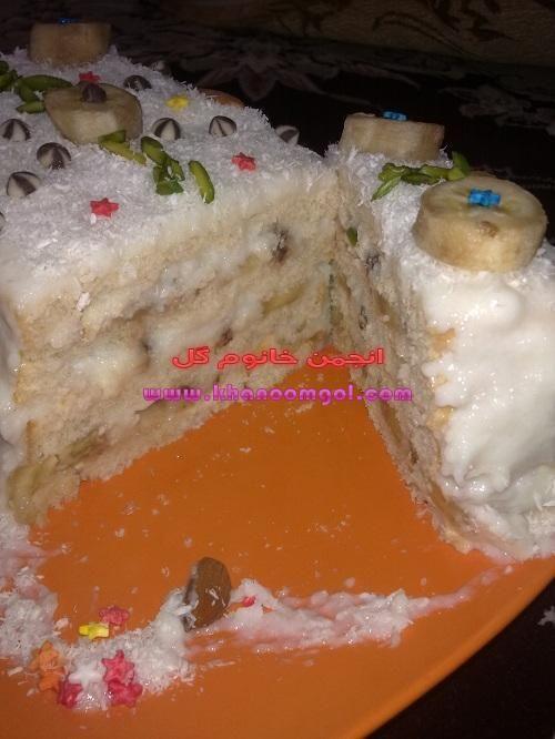 کیک فرنی فرنی با نان تست