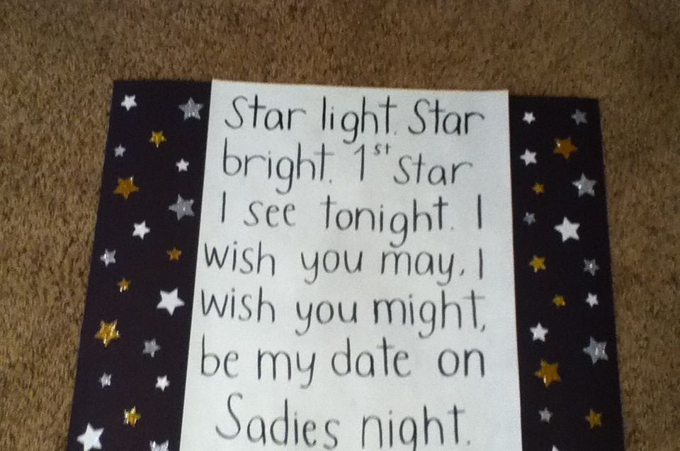 How I Asked A Guy To Sadies Star Light Star Bright First Star