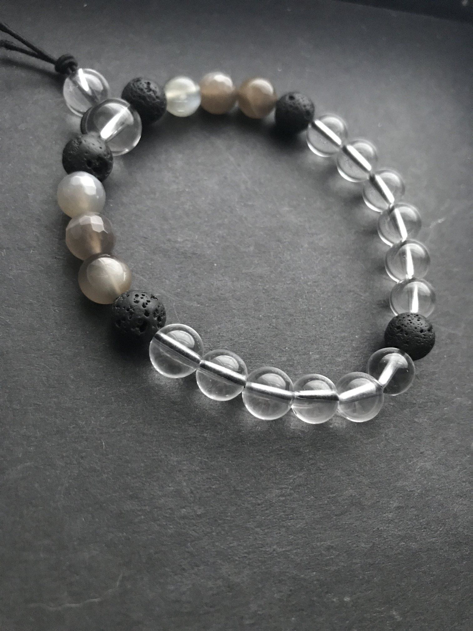 9f442dc66a19 Migraine reducing crystal bracelet - moonstone