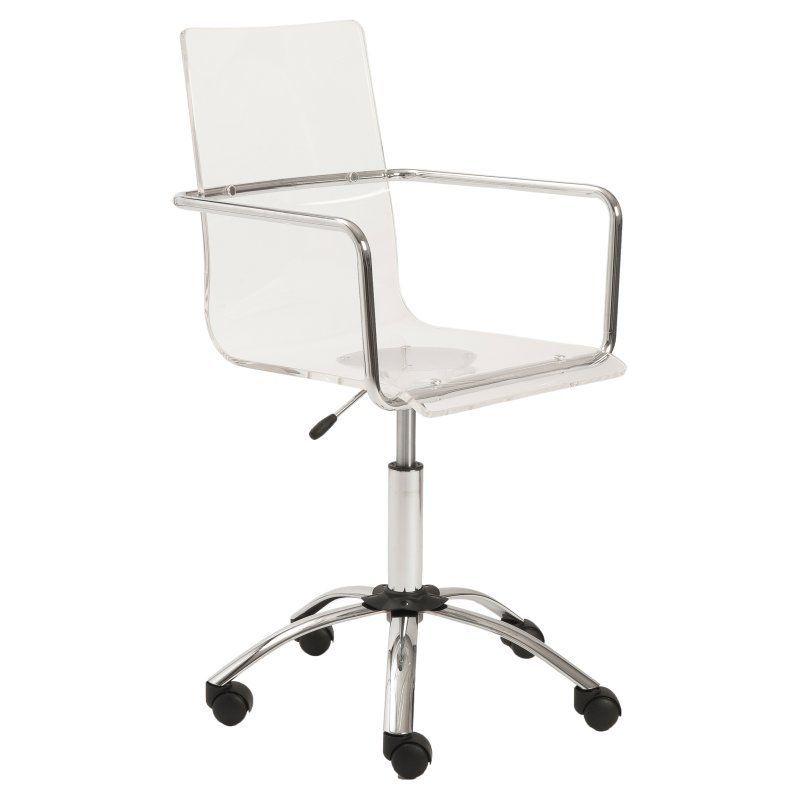 Phenomenal Euro Style Chloe Office Chair Clear Chrome 80943Clr Evergreenethics Interior Chair Design Evergreenethicsorg