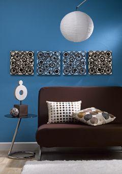 Blue And Brown Circles Wall Art Brown Wall Decor Brown Wall Art