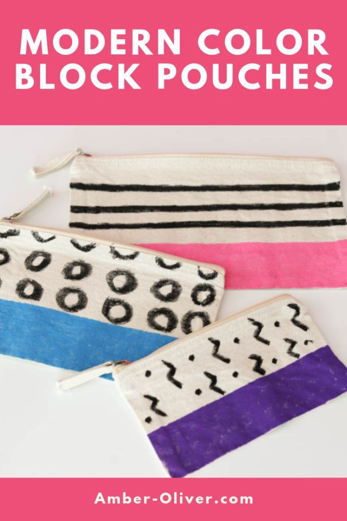 Transform plain zip pouches from JOANN quickly and easily with paint pens! This ...  - Amber Oliver | Blog -
