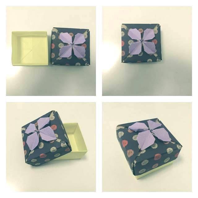 折り紙で作るおしゃれな「あじさい箱」【折り方をやさしく ...