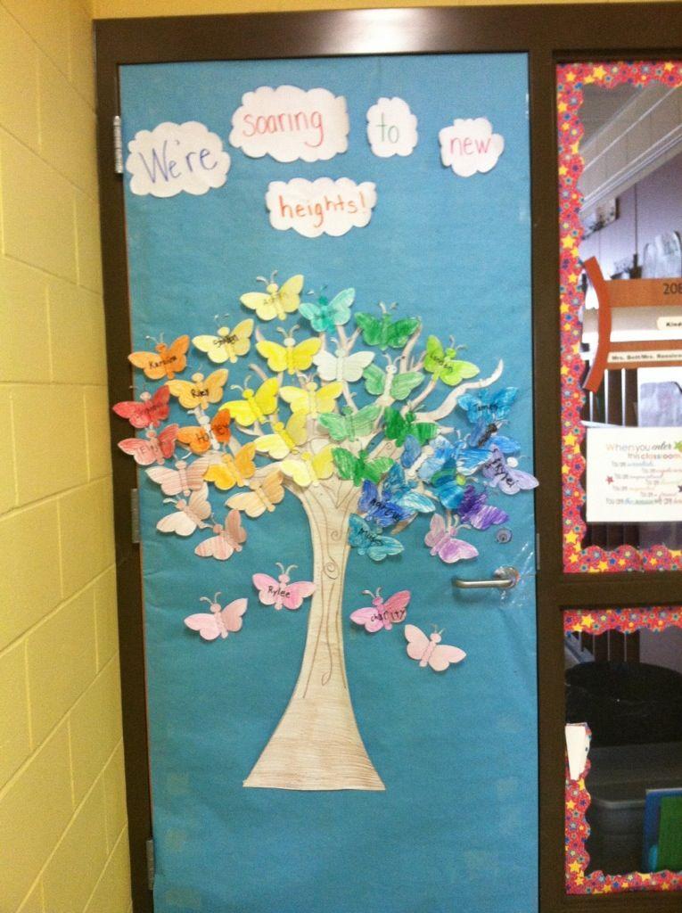 Spring Door Decoration Butterflies Classroom Spring Door