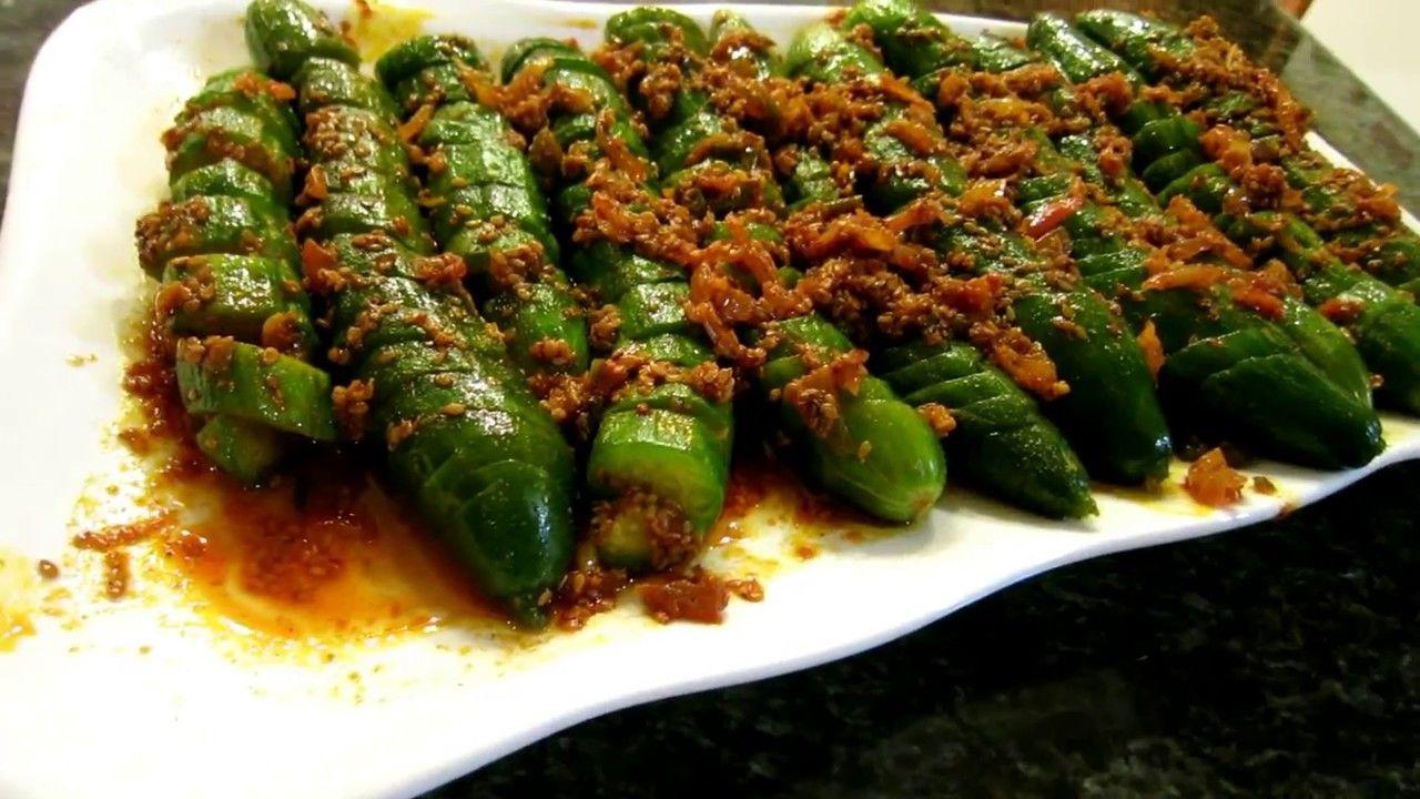 مخلل خيار على الطريقة الصينية جاهز للاكل بساعتين Youtube Green Beans Food Asparagus