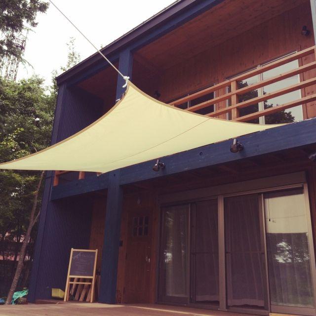 玄関 入り口 クッカバラ ウッドデッキ Bessの家のインテリア実例 2015 07 05 12 55 50 Roomclip ルームクリップ Bessの家 ベランダ シェード ウッドデッキ