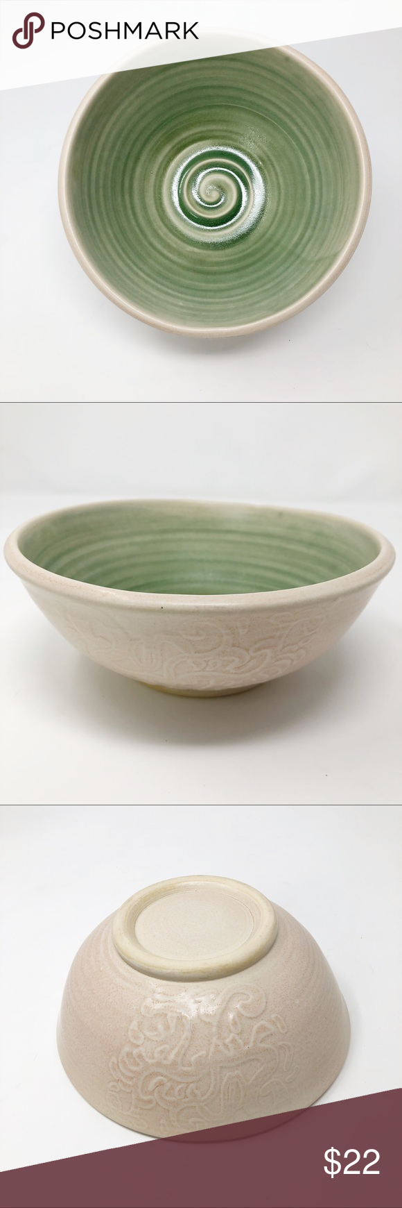 Photo of Handmade Ceramic Bowl Rustic Farmhouse Pottery Handmade ceramic wheel thrown bow…