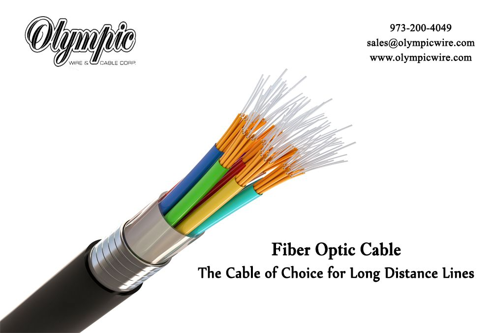 Fiber Optic Cable The Cable Of Choice For Long Distance Lines Fiber Optic Cable Fiber Optic Fibre Optics