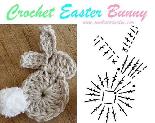 Crochet Easter Bunny Garland - Free Pattern | Ostern, Häkelideen und ...