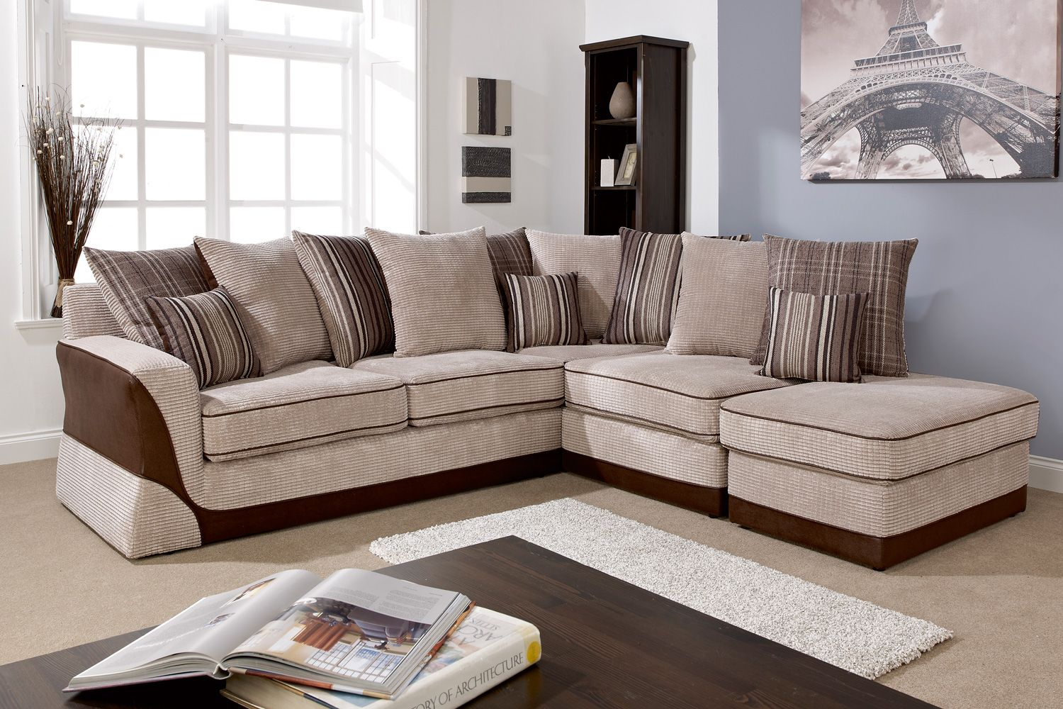 Highland Corner Sofa with Footstool from Harvey Norman