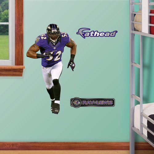 NFL Baltimore Ravens Ray Lewis Junior Wall Graphics Fathead //.amazon & NFL Baltimore Ravens Ray Lewis Junior Wall Graphics Fathead http ...