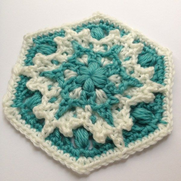 Free pattern called Blizzard Warning! Crochet snowflake hexagon by ...