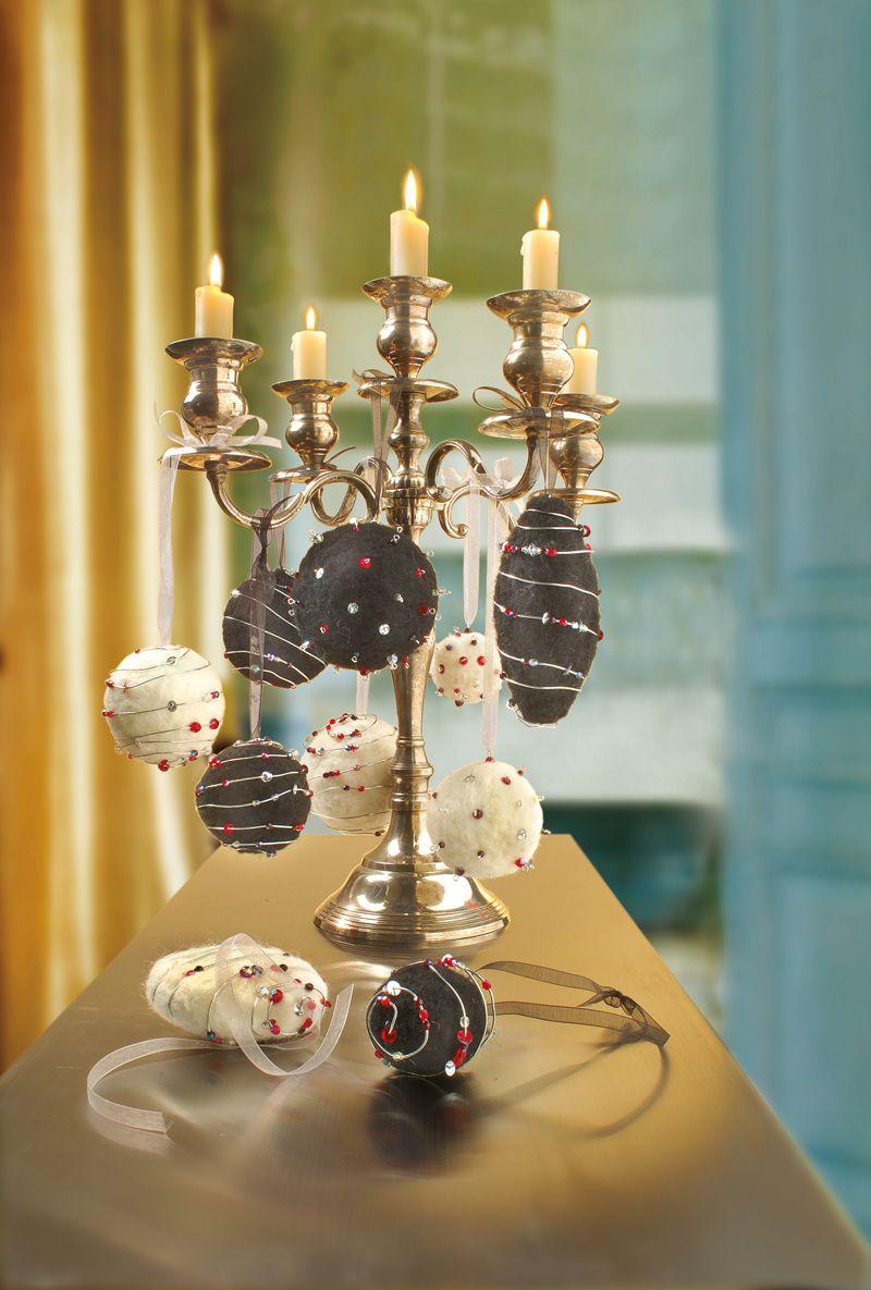 Weihnachtskugeln aus filz idee mit anleitung klick auf besuchen basteln f r - Ausgefallene weihnachtskugeln ...