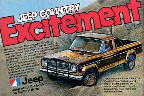 Golden Eagle 1978 Jeep J10 4x4 Pickup Jeep Golden Eagle Jeep