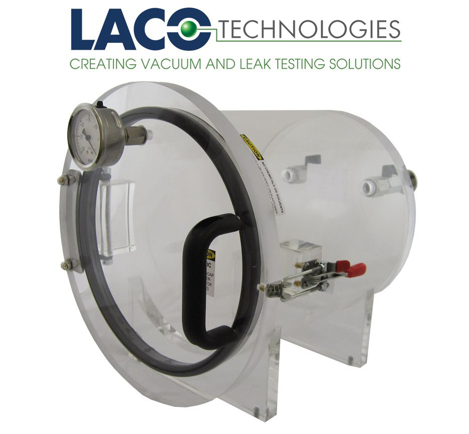 LVC1212 1112 HC 12 X VACUUM CHAMBER HINGED LID LACOs Horizontal Clear Series Vacuum Chambers Are Cylindrical