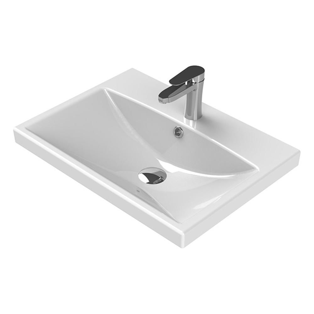 Elite Wall Mounted Bathroom Sink In White Dbath Wall Mounted