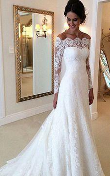 Immagine 1 Abito Da Sposa Maniche Lunghe A Terra Mezza Coperta Zip Wedding Dresses Long Sleeve Bridal Gown Wedding Dress Long Sleeve