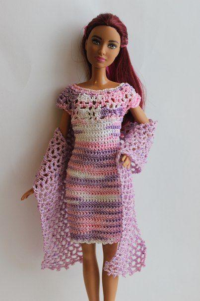 Crotchet dress for Barbie | Barbie crotchet dress of mine ...