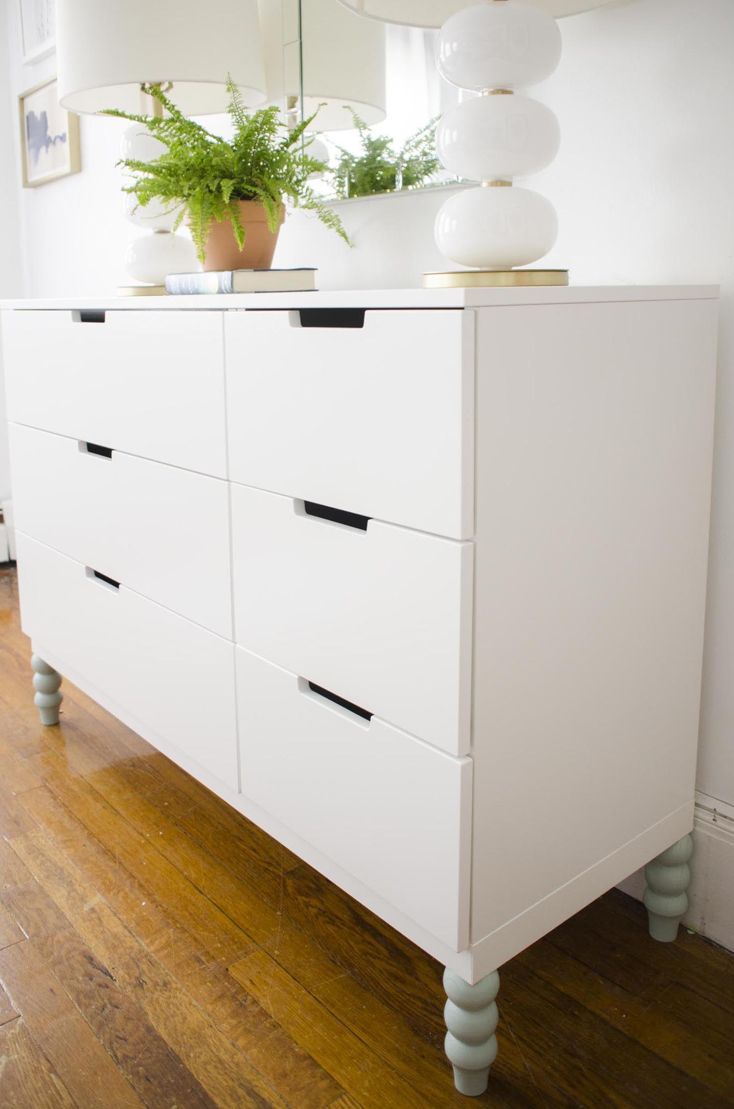 Modern White Dresser With Blue Legs Via Thouswellblog College