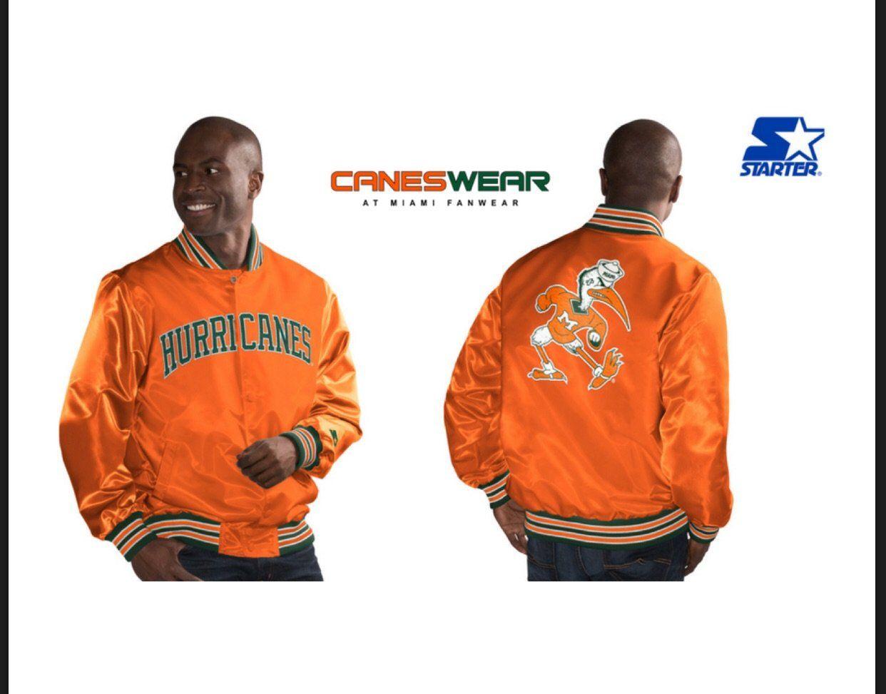 Miami Hurricanes Classic Starter Jacket Vintage Orange Miami Hurricanes Miami Jackets